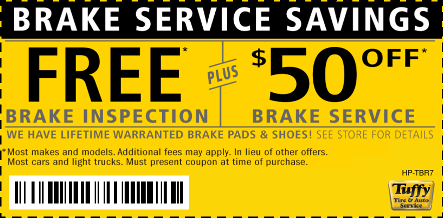 $50 OFF Brake Service Plus FREE Inspection