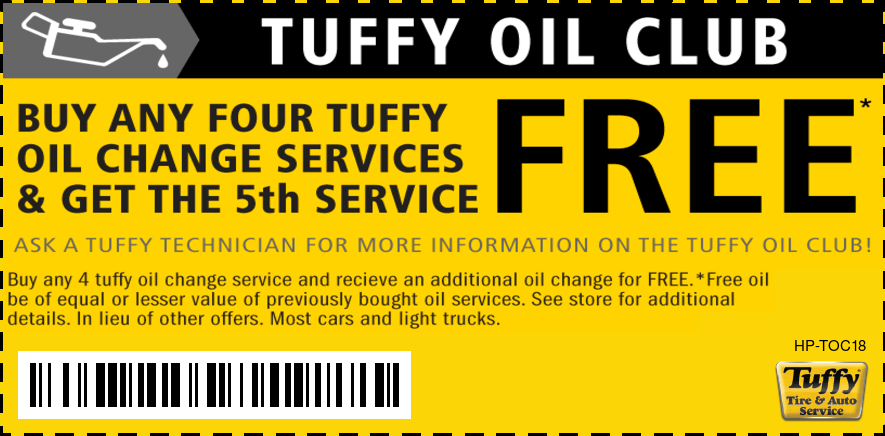 Preferred Customer Oil Change Buy 4 Get 5th FREE