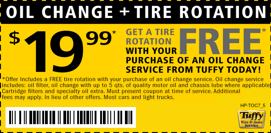 Free Tire Rotation W/ $19.99 LOF
