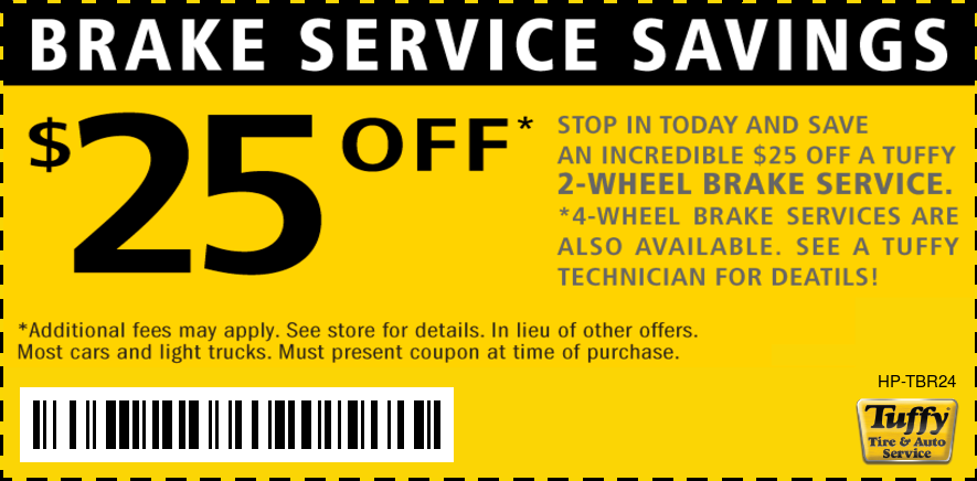 Brake Service Savings $25 OFF