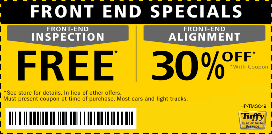 FREE Front End Inspection & 30% OFF Alignment