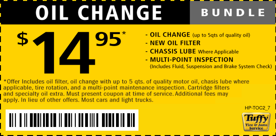 $14.95 LOF/Tire Rotation