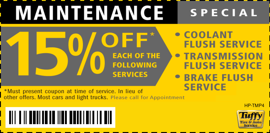 Maintenance Special 15% OFF Flush