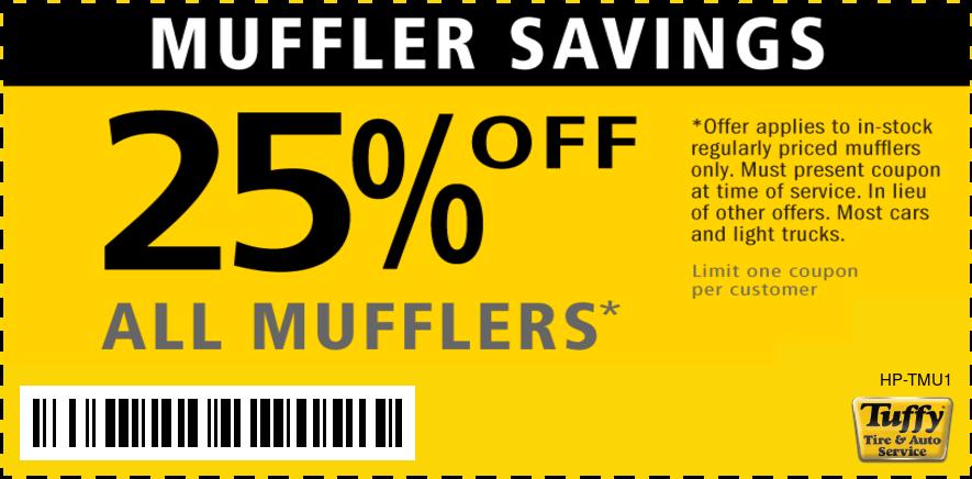 25% OFF Mufflers