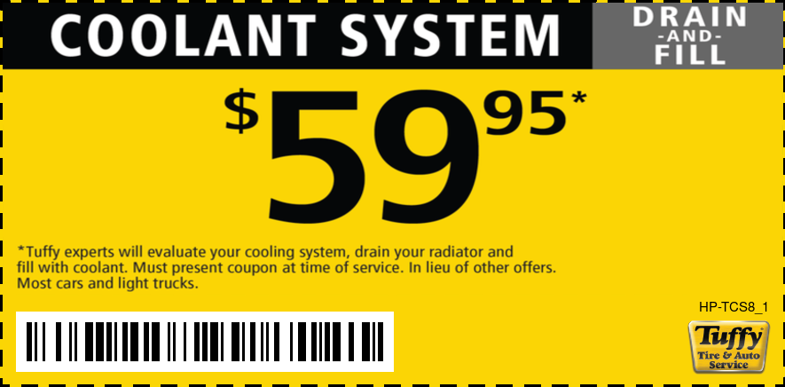 Coolant Drain and Fill $59.95