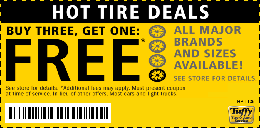 Buy Three Tires Get One FREE (ALL Major Brands & Sizes)