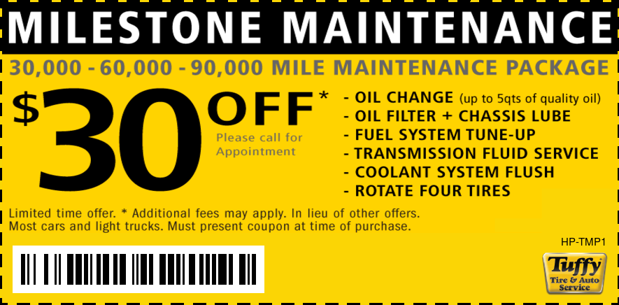 $30 OFF 30K/60K/90K Maintenance Services