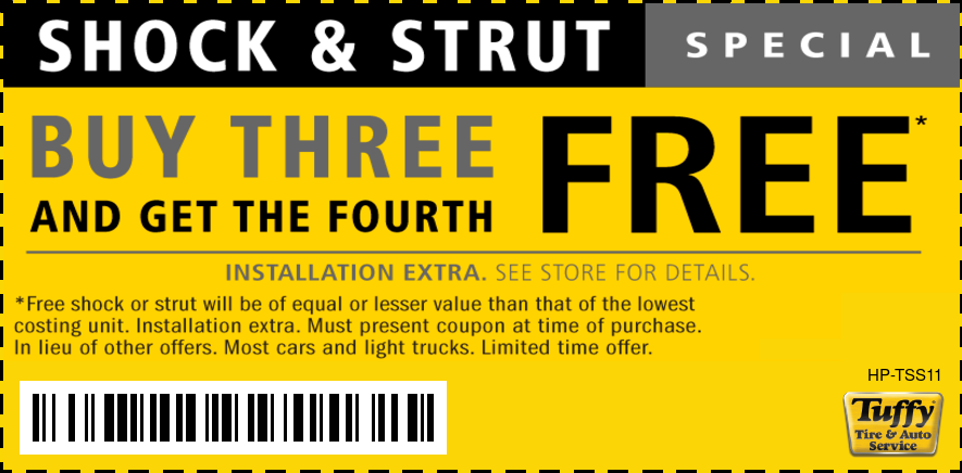 Shock & Strut Special Buy Three Get the Fourth Free