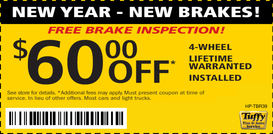 New Year-New Brakes $60 OFF 4 Wheel
