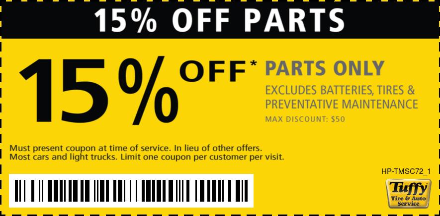 15% Off Parts