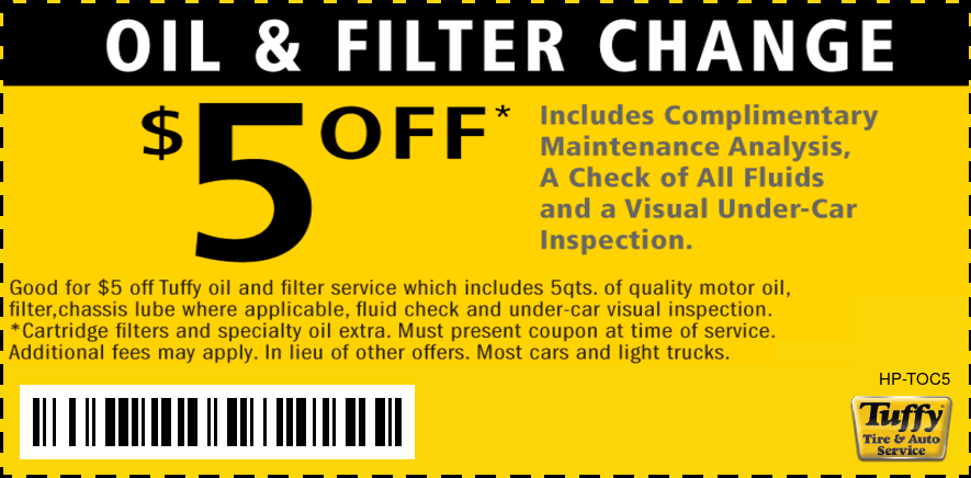 Oil Change & Filter $5 OFF