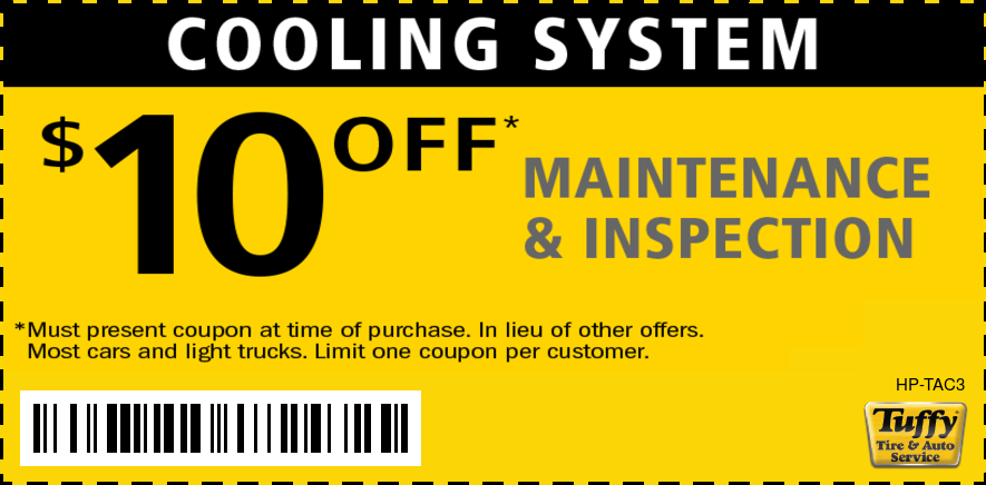 $10 OFF Cooling System Maintenance & Inspection