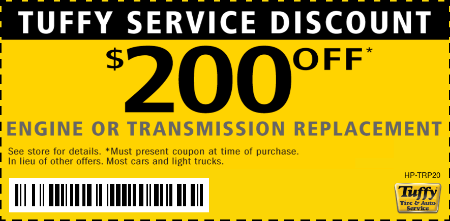 Engine or Transmission Replacement