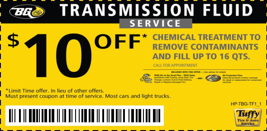 $10 Of BG Transmission Fluid Service