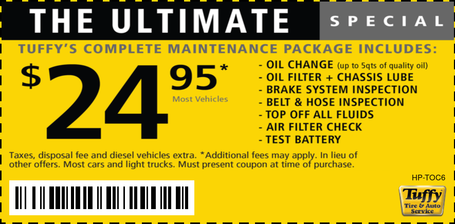 The Ultimate Oil Change $24.95