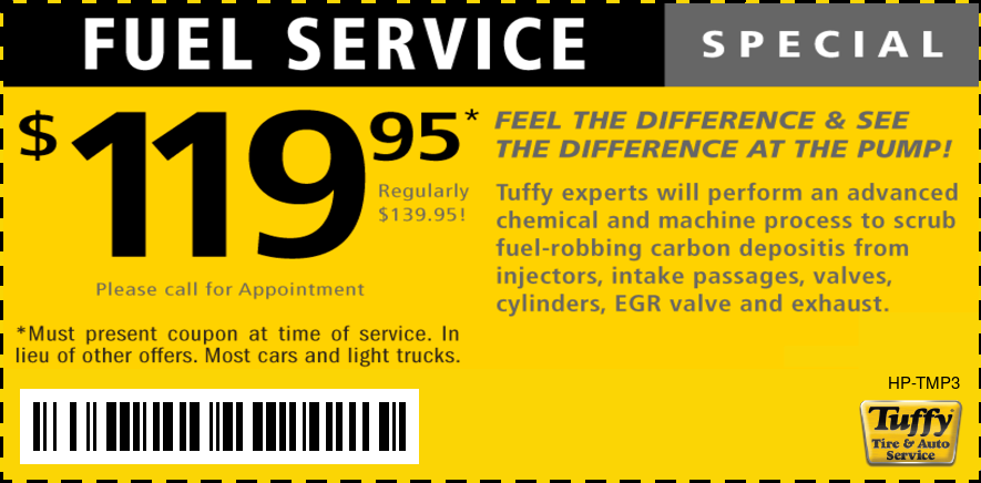 $119.95 Fuel Service W/Appt.