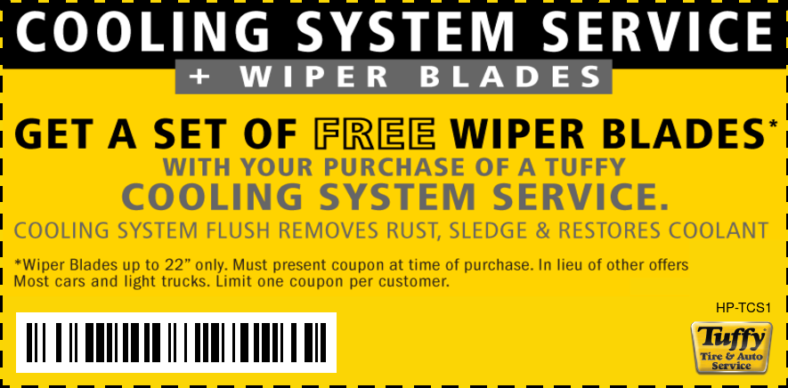 FREE Wiper Blades W/Coolant System Service