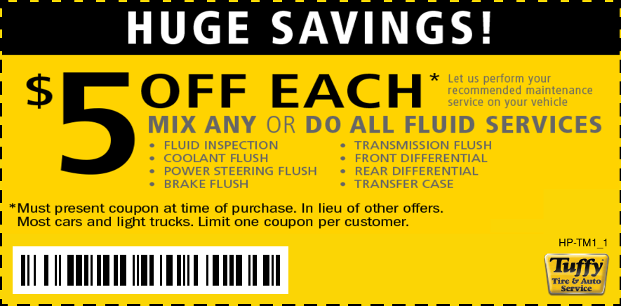Preventative Maintenance Fluid Service $5 OFF