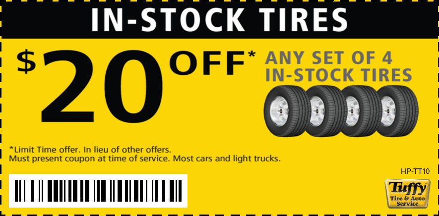 $20 Off Any Set of 4 In-Stock Tires