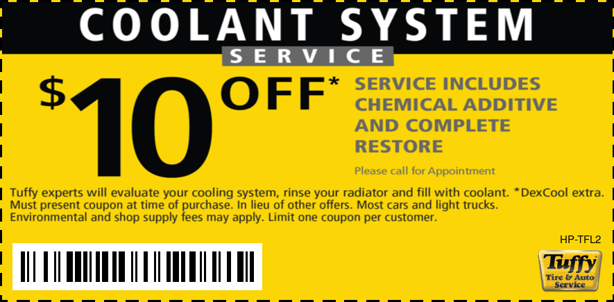 $10 OFF Coolant System Service
