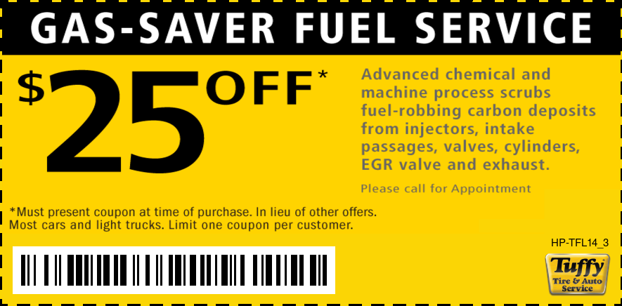 $25 Off Fuel Service