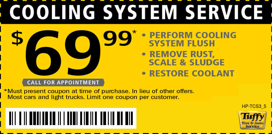$69.99 Cooling System Service