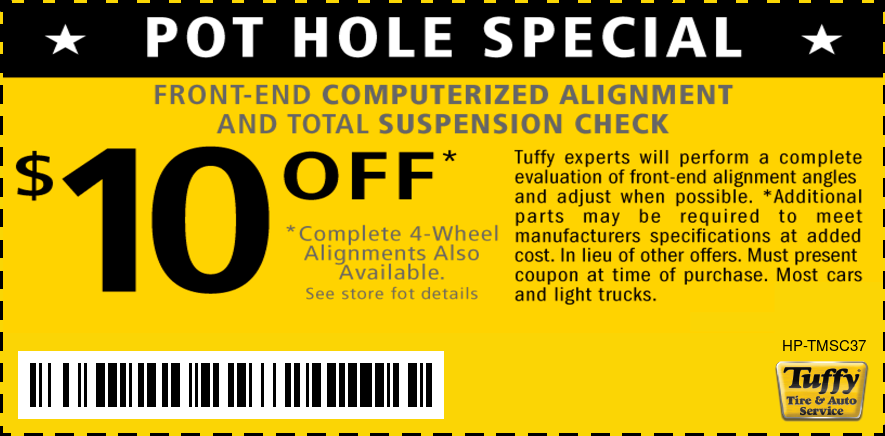 $10 OFF Pot-Hole Special