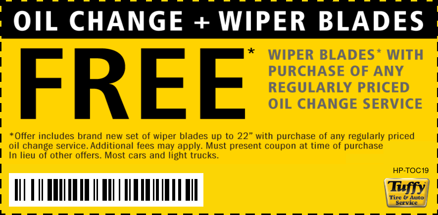 FREE Wiper Blades W/Purchase of Regular Price Oil Change
