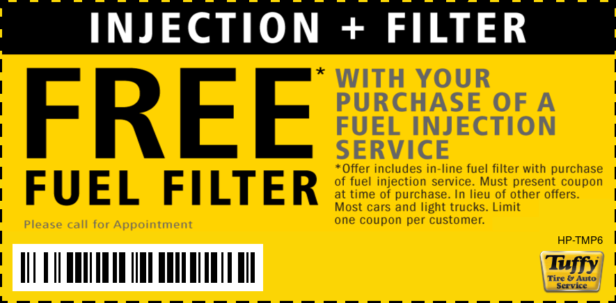 FREE Fuel Filter W/Fuel Injection Service W/Appt.