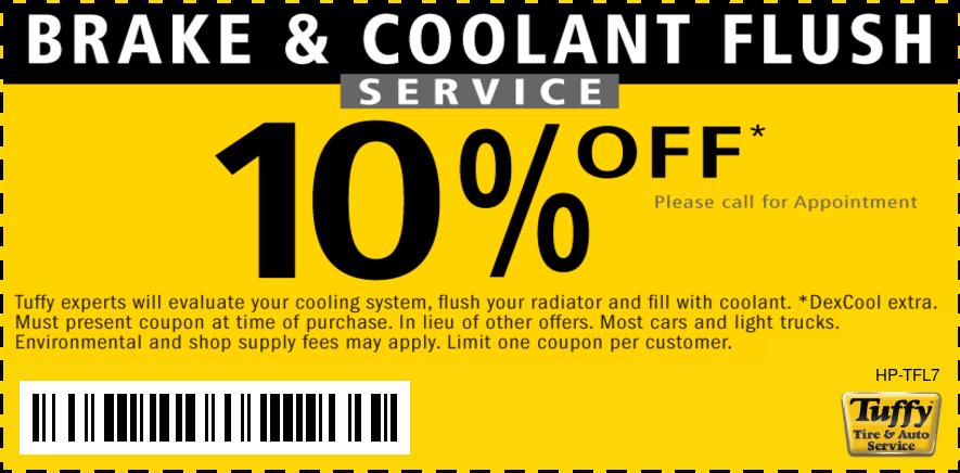 10% OFF Brake Fluid & Coolant Flush