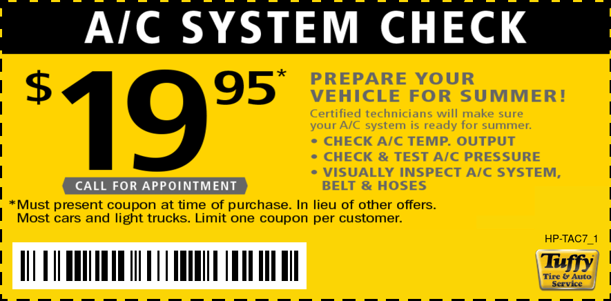 A/C System Check $19.95 - Prepare Your Vehicle For Summer!