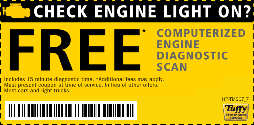 Check Engine Light FREE Engine Diagnostic Scan