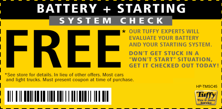 FREE Starting System/Battery Check