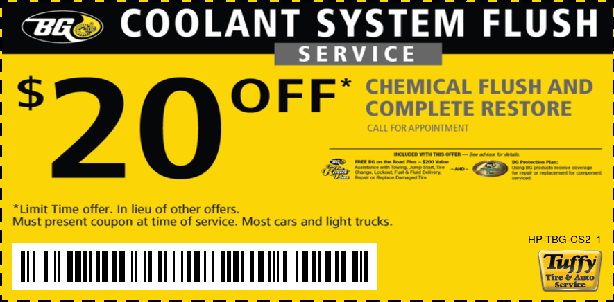 $20 Off Coolant System Flush Service