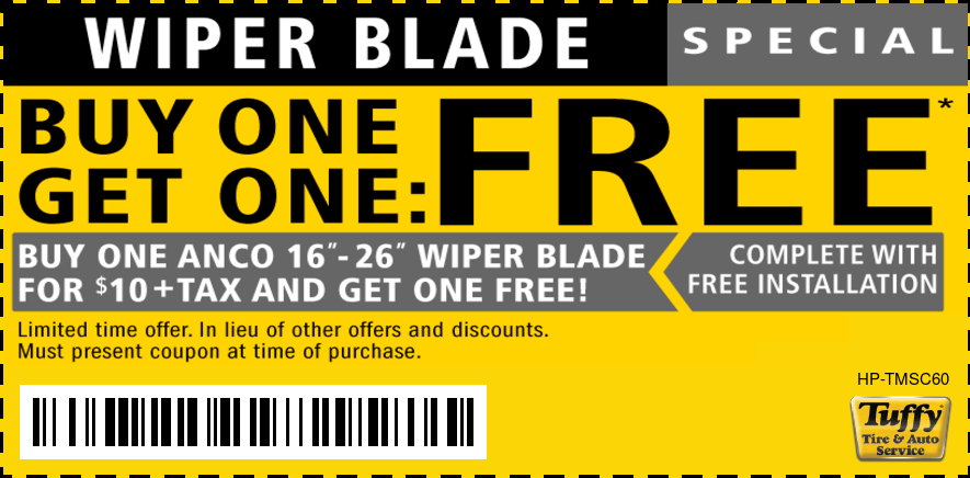Buy One Get One Free Anco Wiper Blades
