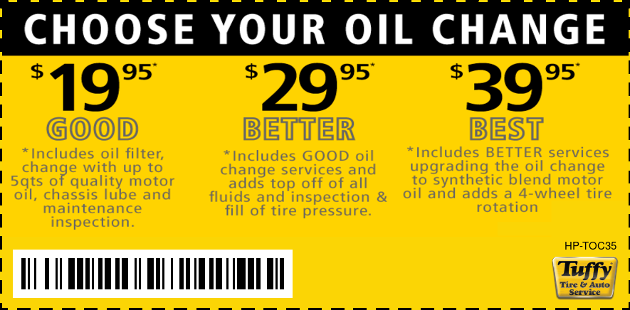 $7 Off Oil Changes/Good-Better