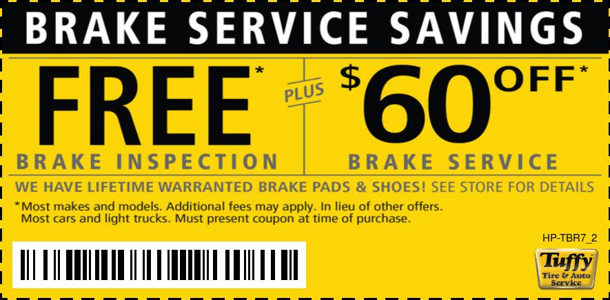 Brake Service Savings Free Brake Inspection PLUS $60 OFF Brake Service