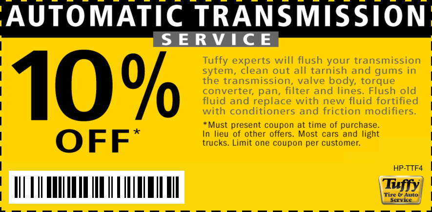 10% Off Automatic Transmission Service