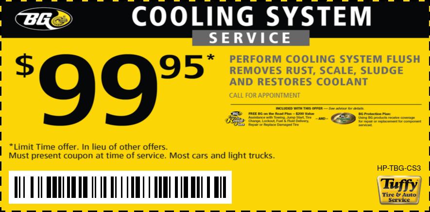 $99.95 BG Cooling System Service