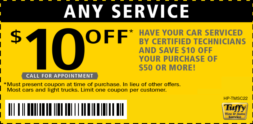 $10 OFF Any Service W/Purchase Of $50 Or More