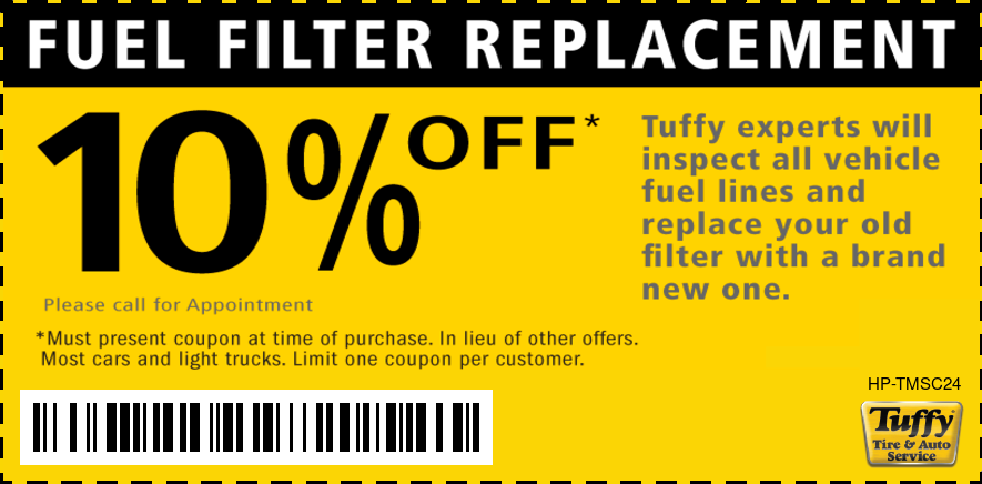 10% OFF Fuel Filter Replacement
