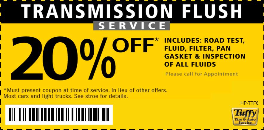 $20 Off Transmission Service Flush