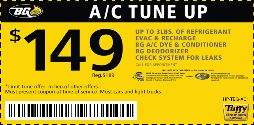 BG A/C Tune Up $149.00
