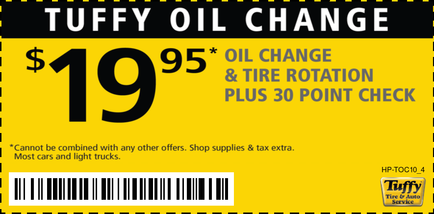OIl Change $19.95 W/Tire Rotation