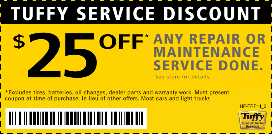 $25 OFF Any Repair or Maintenance Service (Excludes Oil Change)
