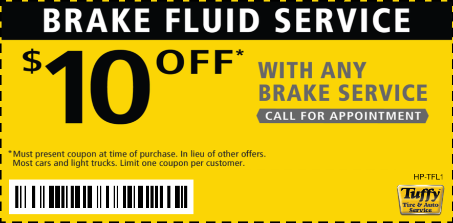 $10 OFF Brake Fluid Service