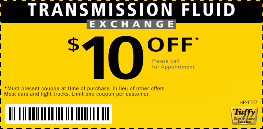 $10 OFF Transmission Fluid Exchange
