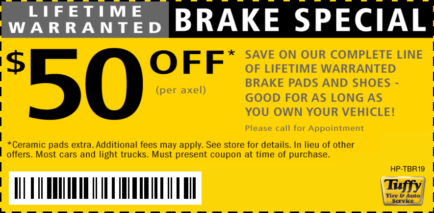 Lifetime Warranted Brakes $50 OFF