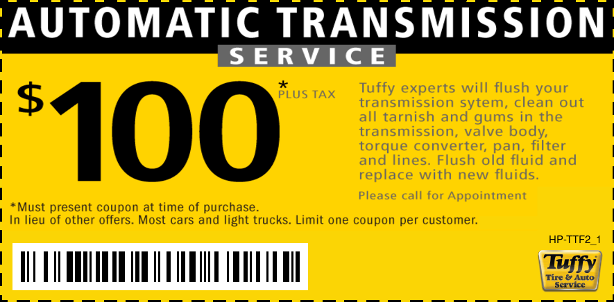 $100 Automatic Transmission Service
