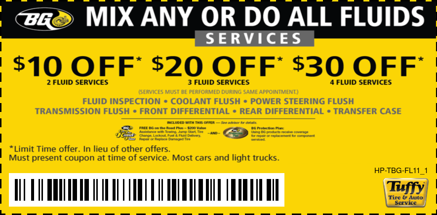 Mix Any Do All $10/$20/$30 OFF Any BG Fluid Flush